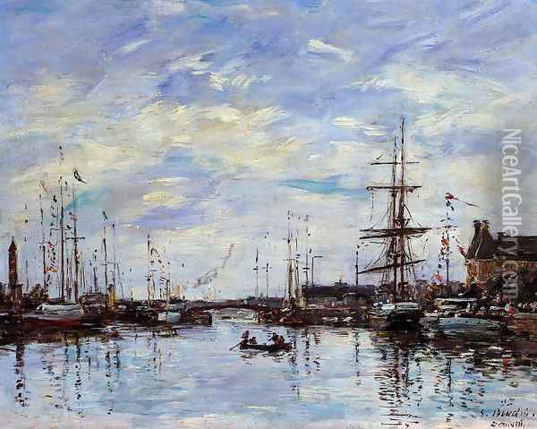 Deauville the Basin 1892 Oil Painting - Eugene Boudin