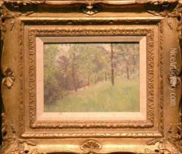 Summer Landscape Oil Painting - Louis Charles Vogt