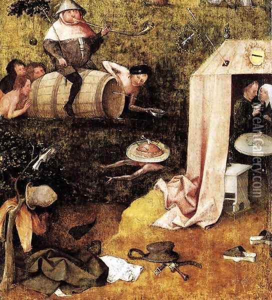 Allegory of Gluttony and Lust Oil Painting - Hieronymous Bosch