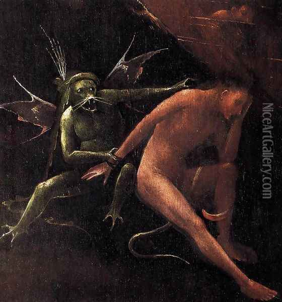 Hell (detail) Oil Painting - Hieronymous Bosch