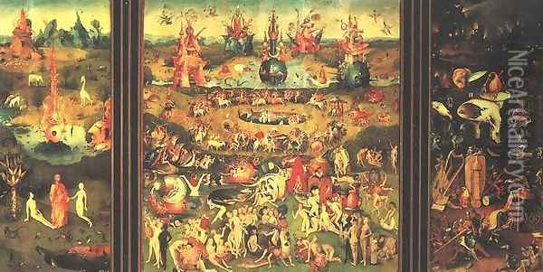 Garden of Earthly Delights Oil Painting - Hieronymous Bosch