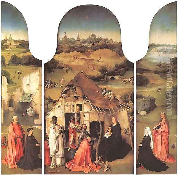 Adoration of the Magi Oil Painting - Hieronymous Bosch
