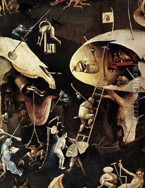 Triptych of Garden of Earthly Delights (right wing) (detail 4) c. 1500 Oil Painting - Hieronymous Bosch