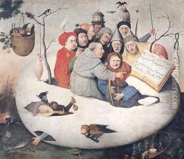 The Concert in the Egg Oil Painting - Hieronymous Bosch