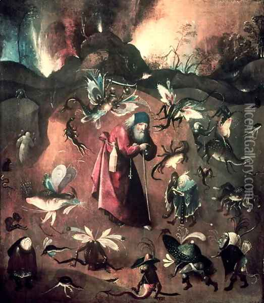 Temptation of St. Anthony (4) Oil Painting - Hieronymous Bosch