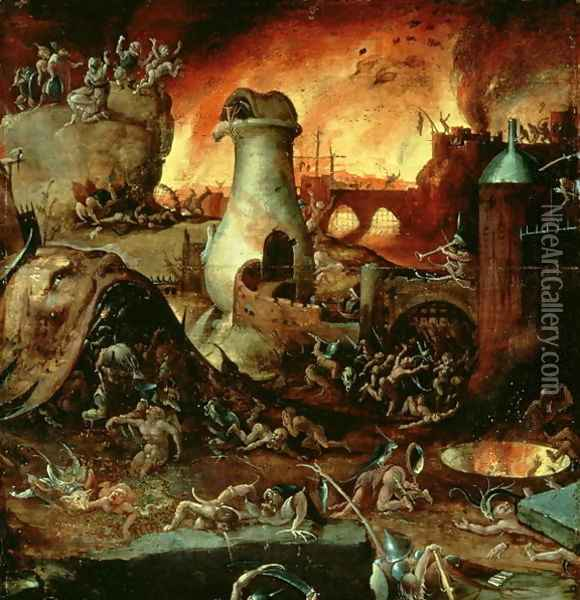 Hell 2 Oil Painting - Hieronymous Bosch