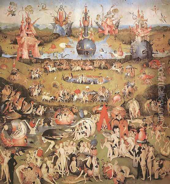 Garden of Earthly Delights, central panel of the triptych Oil Painting - Hieronymous Bosch