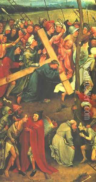 Christ Carrying the Cross 1480s Oil Painting - Hieronymous Bosch