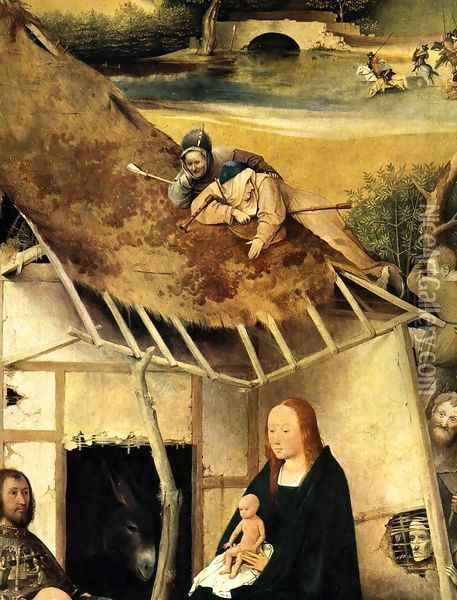 Adoration of the Magi (detail 2) c. 1510 Oil Painting - Hieronymous Bosch