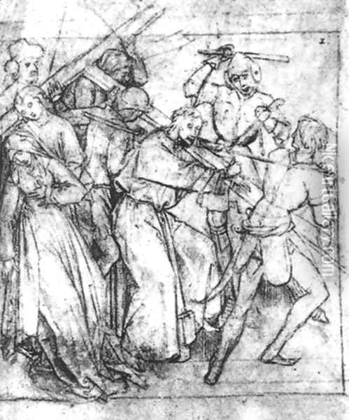Christ Carrying the Cross 2 Oil Painting - Hieronymous Bosch
