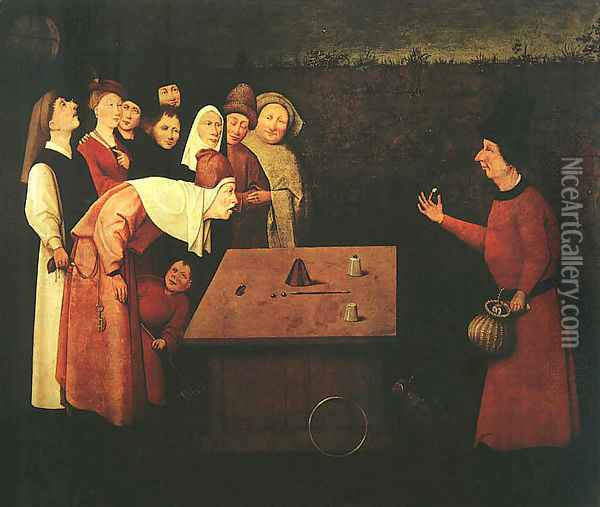 The Conjuror Oil Painting - Hieronymous Bosch