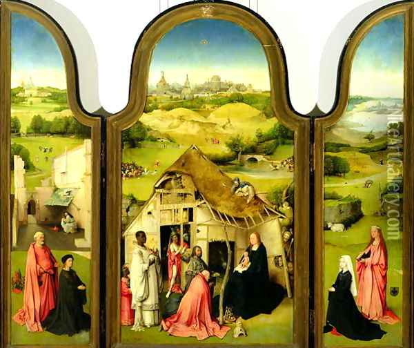 The Adoration of the Magi, 1510 Oil Painting - Hieronymous Bosch