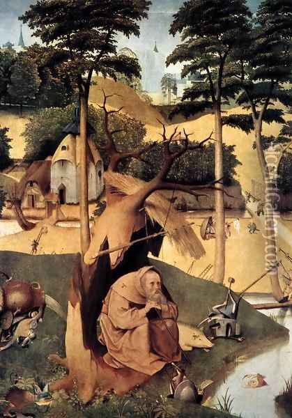 The Temptation of St Anthony Oil Painting - Hieronymous Bosch