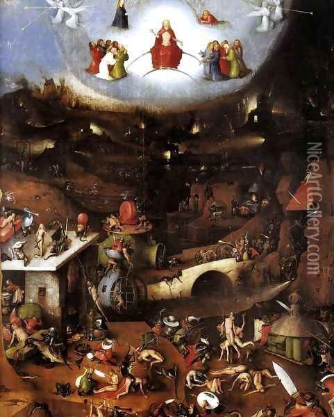 Triptych of Last Judgement (central panel) Oil Painting - Hieronymous Bosch