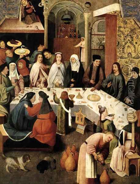 Marriage Feast at Cana Oil Painting - Hieronymous Bosch