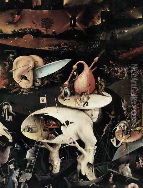 Triptych of Garden of Earthly Delights (right wing) (detail 2) c. 1500 Oil Painting - Hieronymous Bosch