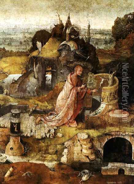 Hermit Saints Triptych (central panel) Oil Painting - Hieronymous Bosch
