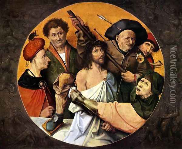 Christ Crowned with Thorns Oil Painting - Hieronymous Bosch