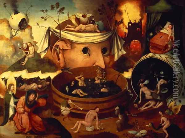 Tondal's Vision Oil Painting - Hieronymous Bosch