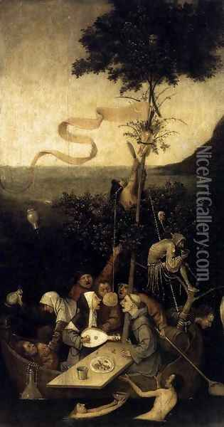 The Ship of Fools 1490-1500 Oil Painting - Hieronymous Bosch