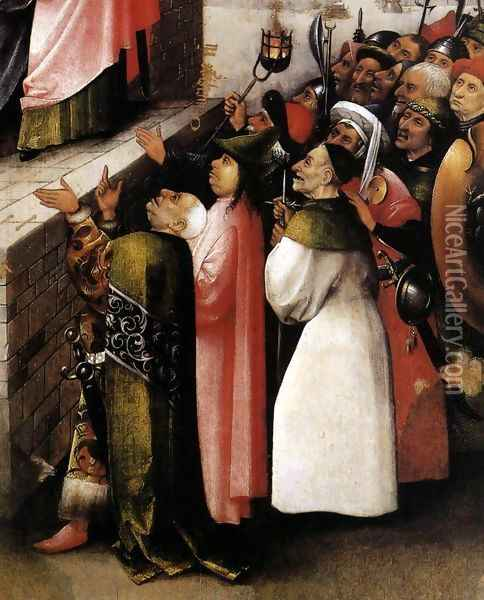 Ecce Homo (detail) 1475-80 Oil Painting - Hieronymous Bosch
