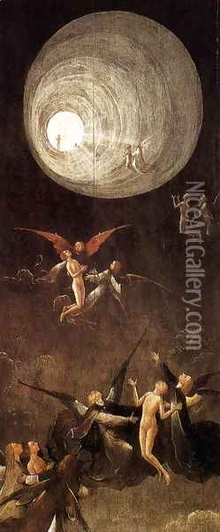 Paradise- Ascent of the Blessed Oil Painting - Hieronymous Bosch