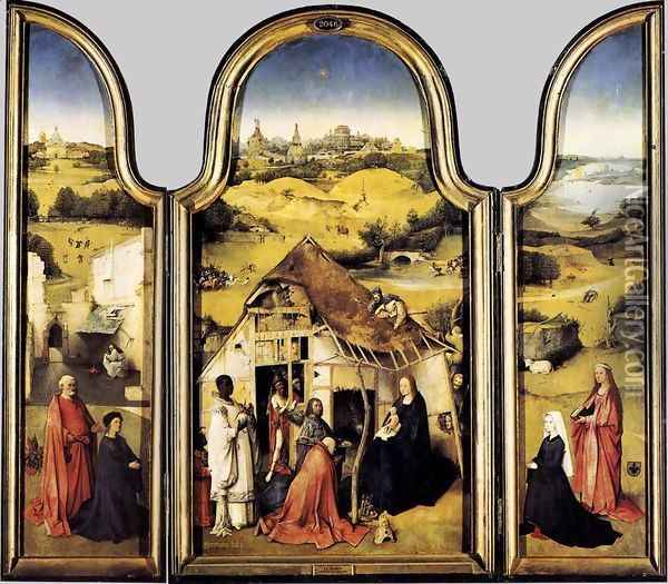 Triptych of the Adoration of the Magi 1510 Oil Painting - Hieronymous Bosch