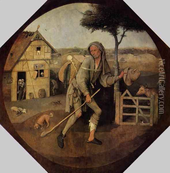 The Wayfarer Oil Painting - Hieronymous Bosch