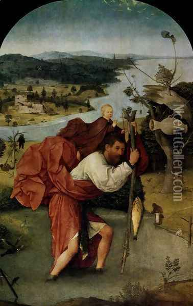 St Christopher Oil Painting - Hieronymous Bosch