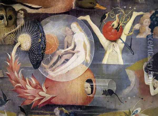 Triptych of Garden of Earthly Delights (detail 9) c. 1500 Oil Painting - Hieronymous Bosch