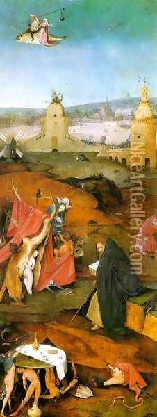 Temptation of St. Anthony, right wing of the triptych Oil Painting - Hieronymous Bosch