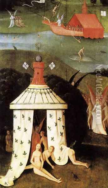Last Judgment (fragment of Paradise) Oil Painting - Hieronymous Bosch