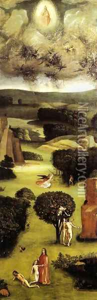 Triptych of Last Judgement (left wing) Oil Painting - Hieronymous Bosch