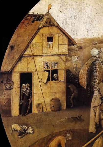 The Wayfarer (detail) Oil Painting - Hieronymous Bosch