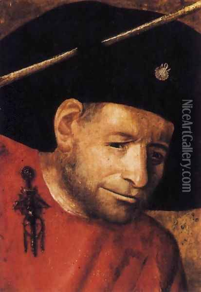 Head of a Halberdier (fragment) Oil Painting - Hieronymous Bosch