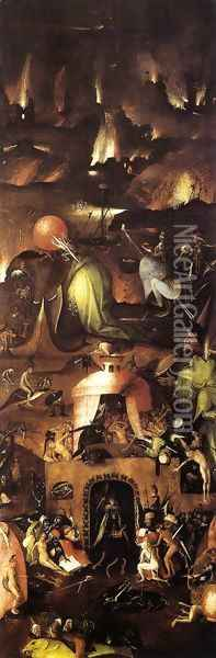 Triptych of Last Judgement (right wing) Oil Painting - Hieronymous Bosch