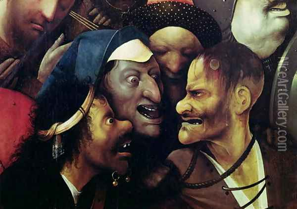 The Carrying of the Cross (detail) Oil Painting - Hieronymous Bosch