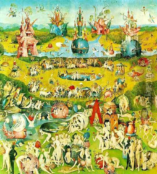 Ecclesia's paradise Oil Painting - Hieronymous Bosch