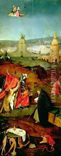Temptation of St. Anthony (3) Oil Painting - Hieronymous Bosch