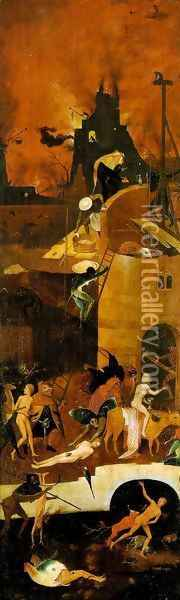 Triptych of Haywain (right wing-2) 1500-02 Oil Painting - Hieronymous Bosch