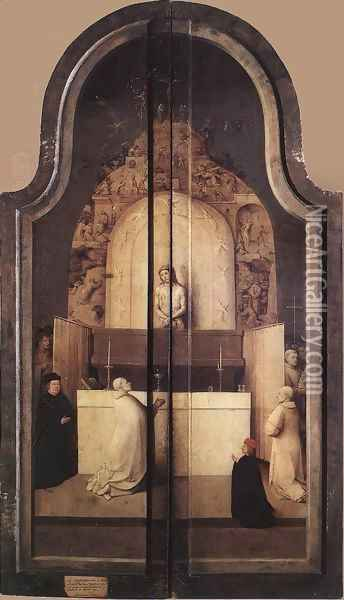 Triptych of the Adoration of the Magi (closed) c. 1510 Oil Painting - Hieronymous Bosch