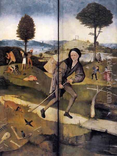 The Path of Life, outer wings of a triptych Oil Painting - Hieronymous Bosch