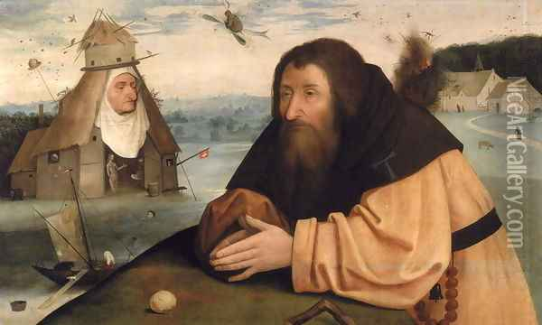 The Temptation of St. Anthony Oil Painting - Hieronymous Bosch