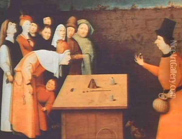 The Magician Oil Painting - Hieronymous Bosch