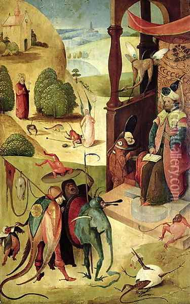 St.James and the Magician Oil Painting - Hieronymous Bosch