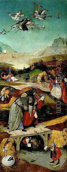 Temptation of St. Anthony (2) Oil Painting - Hieronymous Bosch