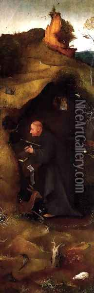 Hermit Saints Triptych (right panel) Oil Painting - Hieronymous Bosch