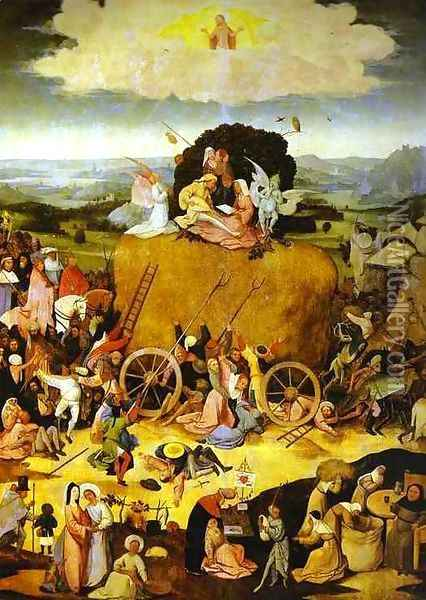 The Haywain Oil Painting - Hieronymous Bosch