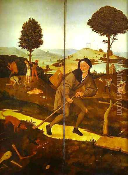 The Wayfarer 2 Oil Painting - Hieronymous Bosch