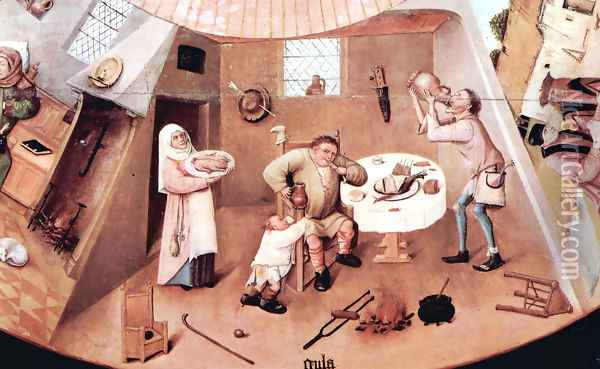 The Seven Deadly Sins (detail 3) Oil Painting - Hieronymous Bosch